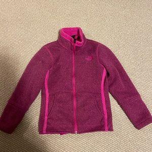 North face girls fleece jacket size 7/8